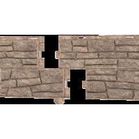 Стоун-Хаус Ю-Пласт, Сланец Бурый (двойной замок)