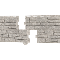 Стоун-Хаус Ю-Пласт, Сланец Светло-серый (двойной замок)