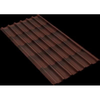 Черепица Onduline 3D Tile Коричневая 1950х960 мм