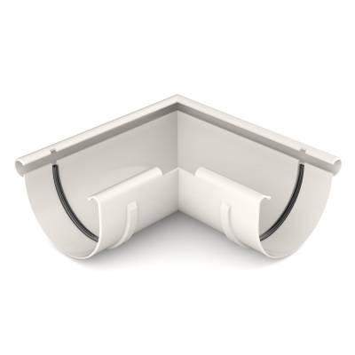 Bryza Угловой элемент внешний Ø125 мм (Белый)