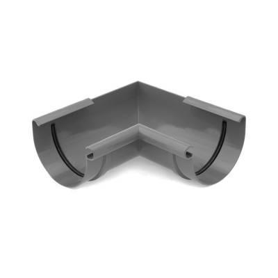 Bryza Угловой элемент внутренний Ø125 мм (Графит)